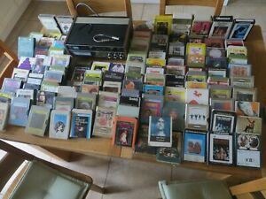 AKAI 8 TRACK STEREO  MUSIC PLAYER CR-81 WITH OVER 100 CASSETTE  CARTRIDGES