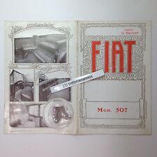 ✇ Original Prospekt FIAT 507 von 1926/1927 deutsch brochure rare