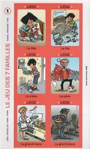supplements spirou : jeu des 7 familles + etui par laudec,fournier,bertschy...