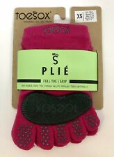 ToeSox PLIÉ Women's XS Fuchsia With Grip  Dance Yoga Pilates New Full Toe