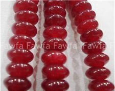 5x8MM Natural Brazilian Red Jade Abacus Gemstones Loose Beads 15""