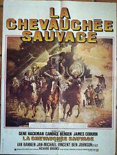 Affiche CHEVAUCHEE SAUVAGE (Gene Hackman / James Coburn) 80x60 cm