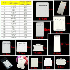 21 Size Jewellery Display Cards necklace Earring Hair clip White Jewelry card