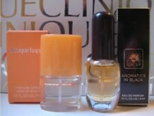 CLINIQUE MINI Sample Lot~ 1 AROMATICS IN BLACK +1 HAPPY Perfume Spray,NEW IN BOX