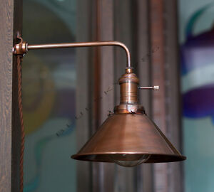 Industrial Vintage Copper shade Wall Lamp Retro Edison Wall Mount DIY Lighting