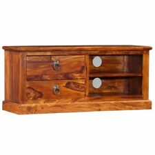 TV Cabinet Solid Sheesham Wood Television Stand Stable Living Room Furniture New