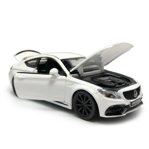 1/32 C63S AMG Sports Car Model Car Diecast Toy Vehicle Sound Light Kids White