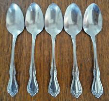 New listing (5) Oneida Wm A Rogers Deluxe Mansfield Stainless Teaspoons