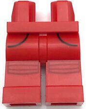 Lego Minifigura pernas Preta Hip W Faixa Vermelha Cinza Escuro lamentava Caveira Prata