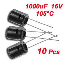 3x(10 x 1000uF 16V 105°C Radialer Elektrolyt Kondensator 10 x 13 mm GY
