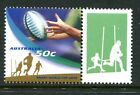 2003 Rugby World Cup 50c Passing The Ball - MUH With Personalised Tab