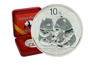 10 Yuan Silber China Panda 2009 Holographic Edition in Box und CoA