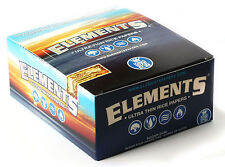 1 box ELEMENTS Slim King Size ULTRA THIN RICE rolling paper - total 1600 papers