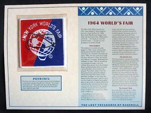 1964 NEW YORK METS Shea Stadium WORLDS FAIR Willabee & Ward LOST TREASURES PATCH