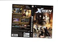 Xmen Legends 2 Rise of Apocalypse PSP ARTWORK ONLY Authentic