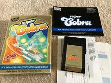 Super Cobra Intellivision Complete Game Box & Manual CIB Tested Very Rare