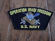 OPERATION IRAQI FREEDOM U.S NAVY SHIP HAT PATCH USA MADE OIF HEAT TRANSFER