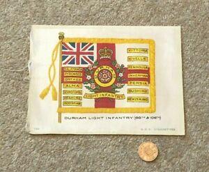 Antique Silk BDV Cigarette Card Military Durham Light Infantry 68th 106th Flag