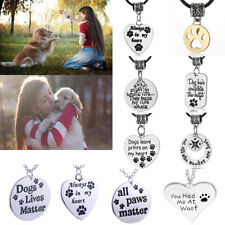 Dog Pet Paw Prints Necklace Pendant for Dog Jewelry Memorial Keepsake Gift Hot