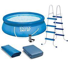 "Intex 15' x 48"" Easy Set Swimming Pool Kit w/ 1000 GPH GFCI Filter Pump 28167EH"
