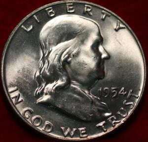 Uncirculated 1954-D Denver Mint Silver Franklin Half