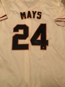 """Willie Mays Signed SF Cream Jersey! 2 Inscriptions, """"Say Hey"""" Hologram"""