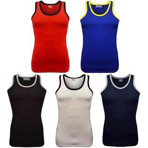 New Men's Coloured Piping Vest Top