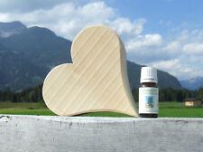 Zirbenherz aus Tirol (Handarbeit aus Zirbenholz) + 10ml reines Zirbenöl im Set