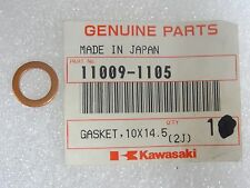 Kawasaki NOS NEW  11009-1105 Gasket 10x14.5x1.5 BN EL EN ER EX KAF KEF 1978-2016