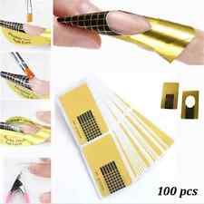 Nail Art Form Sticker Self-adhesive Extension Guide Acrylic Tips UV Gel x 100!