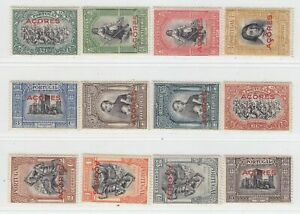PORTUGAL AÇORES 1927  ISSUE FULL SET UNUSED SCOTT 272/83