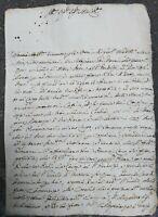 1719 182) LETTERA DA L'AMOROSA DI SINALUNGA A SIENA INGEGNERE DIONISIO MAZZUOLI