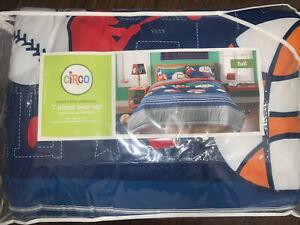 7 Piece- Circo SPORTS Comforter +Shams +Sheets Football Baseball FULL