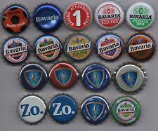 18 different BAVARIA kronkorken beer bottle caps chapas tappi