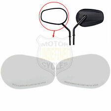 Replacement Tapered Rearview Mirror Glass Lenses For Harley Touring 82-19