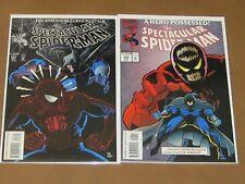 SPECTACULAR SPIDER-MAN #207 208 VF COMPLETE SHROUD STORY CYTTORAK BLACK CAT