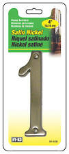 "Hy-Ko BR-43SN/1 Prestige Series House Number 1 Sign, 4"", Satin Nickel"