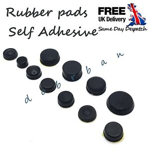 3M SELF- ADHESIVE RUBBER FEET ROUND CYLINDRICAL  BUMPONS UK anti slip black
