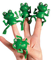 Pack of 12 - Frog Finger Puppets - Reptiles Fairytale Princess Party Bag Fillers