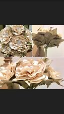 Wedding Bridal Brooch Bouquet Posy Vintage Beige Rhinestone Unique Handmade