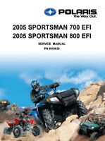 New POLARIS SPORTSMAN 700 800 EFI REPAIR SERVICE MANUAL 2005. 9919820 FREE S&H