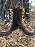 Whites Hathorn Explorer Brown Leather Packer Logger Woodland Boots Mens EE Width