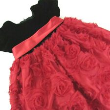 American Princess Party Dress 2T Toddler Girl Red Black Short Sleeve Christmas