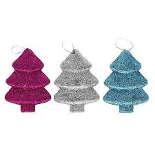 3Pcs Traditional Mini Christmas Xmas Tree Hanging Decorations Bauble Ornaments