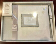 "C.R. Gibson Guest Book w/Pen, 25 YEARS TOGETHER, 500 Names, 9 3/4"" x 7"", New NWT"