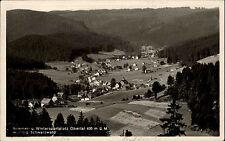 Obertal Schwarzwald 1936 gelaufen nach Hohegeiß Panorama Tal Dorf Häuser Berge
