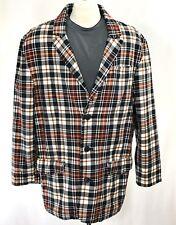 BUFFALO DAVID BITTON Plaid Blazer Jacket Sport Coat sz L | Manteau Poches Sertie
