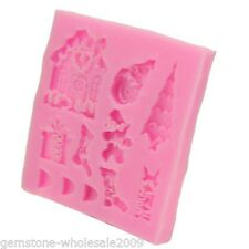 DIY Christmas Series Chocolate Cake Baking Mould Tools Silicone Molds Crafts GW