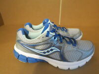 WOMENS SAUCONY GRID MYSTIC GRAY WHITE BLUE MINT RUNNING SHOES SIZE 8M A642
