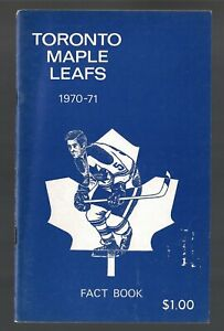 ORIGINAL 1970-71 TORONTO MAPLE LEAFS NHL MEDIA GUIDE YEARBOOK FACT BOOK